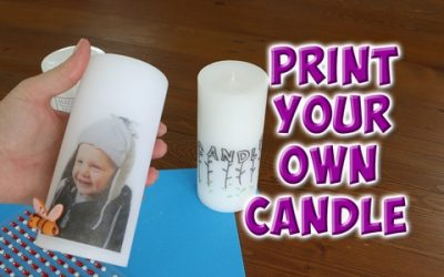 Transfer a photo onto a candle
