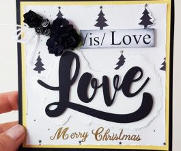 love is love square christmas card