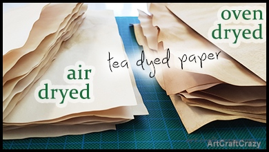 Air dry or Oven dry tea dyed paper