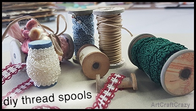 Thread spools cardboard spools that look wooden
