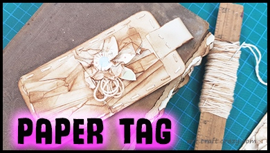 Faux fabric paper tag