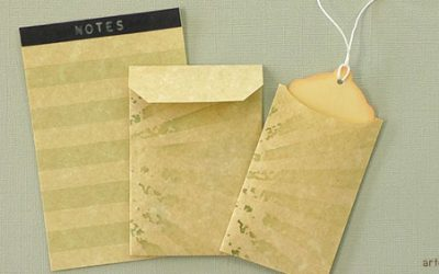 Faux vintage notebook set