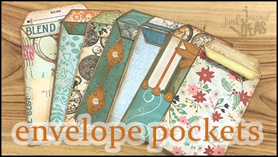 Envelope pockets from junk mail envelopes