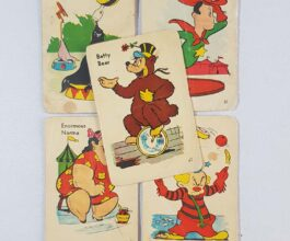 Vintage old maid circus edition cards