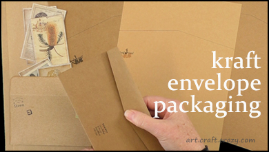 kraft card envelope