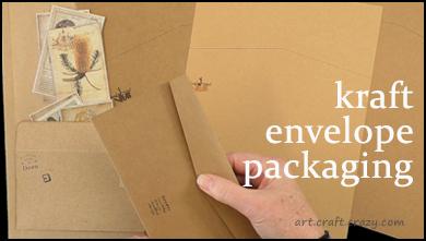 kraft card envelope