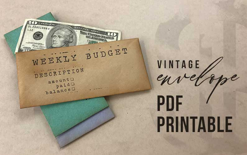 Weekly budget envelope pdf
