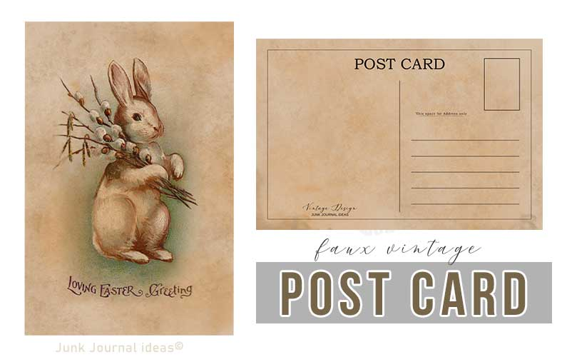Post card easter