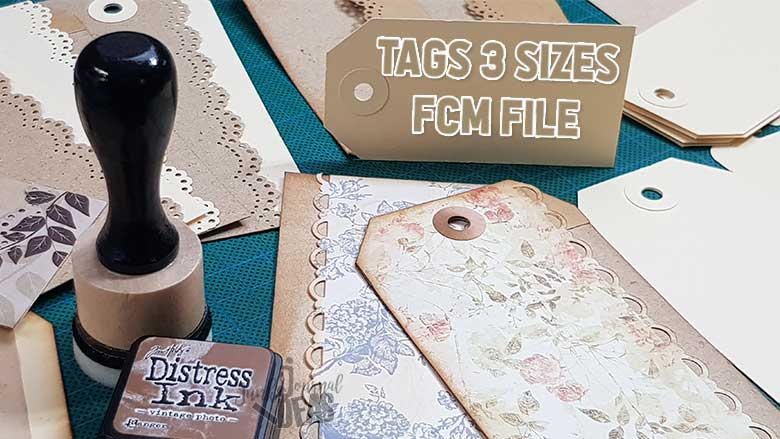 3 tag sizes cut file junk journal ideas