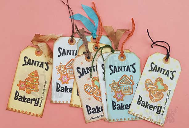 Santa's bakery recipe tags 670